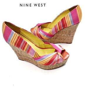 Nine West Women's Chillpill Wedge Sandal Sz 8.5